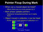 pointer fixup during mark