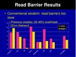 read barrier results