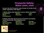 fireworks safety state laws cont