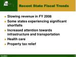 recent state fiscal trends