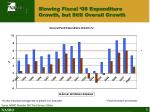 slowing fiscal 08 expenditure growth but still overall growth