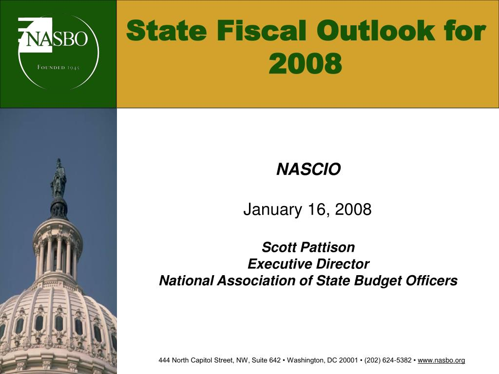 state fiscal outlook for 2008 l.