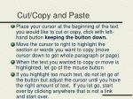 cut copy and paste