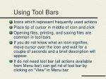 using tool bars