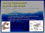 display technologies organic led arrays