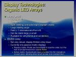 display technologies organic led arrays33