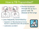 how is tb transmitted