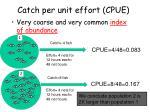 catch per unit effort cpue