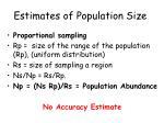 estimates of population size