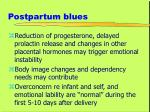 postpartum blues