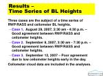 results time series of bl heights