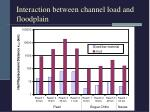 interaction between channel load and floodplain