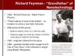 richard feynman grandfather of nanotechnology