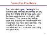 corrective feedback56