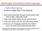 meaningful interactions with language33