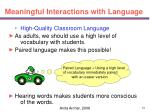 meaningful interactions with language34