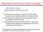 meaningful interactions with language35
