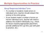 multiple opportunities to practice50