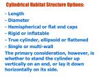 cylindrical habitat structure options