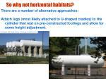 so why not horizontal habitats17
