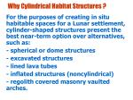 why cylindrical habitat structures