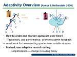 adaptivity overview avnur hellerstein 2000