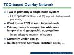 tcq based overlay network