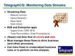telegraphcq monitoring data streams