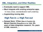 xml integration and other realities