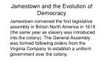 jamestown and the evolution of democracy
