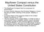 mayflower compact versus the united states constitution