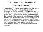 the laws and liberties of massachusetts75