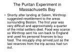 the puritan experiment in massachusetts bay