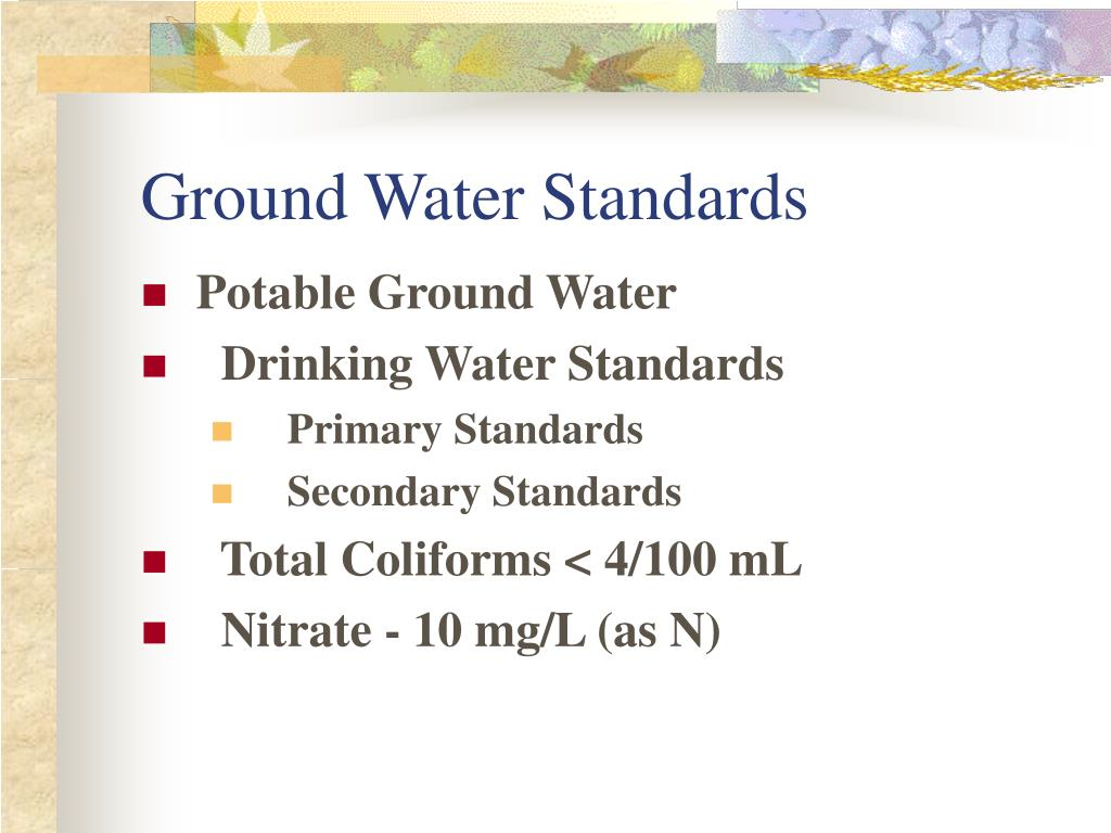 Ground Water Standards