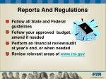 reports and regulations10