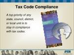 tax code compliance