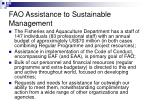 fao assistance to sustainable management