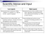scientific advice and input cochrane andrew and parma 2010