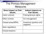 the primary management measures