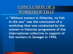 conclusion of a workshop that