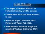 low wages