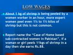 low wages55