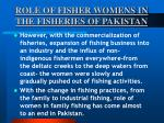 role of fisher womens in the fisheries of pakistan45