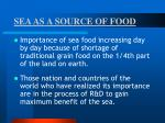 sea as a source of food4