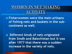 women in net making activity