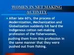 women in net making activity49