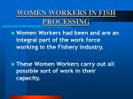 women workers in fish processing