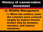 history of conservation movement