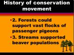 history of conservation movement1