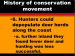 history of conservation movement3